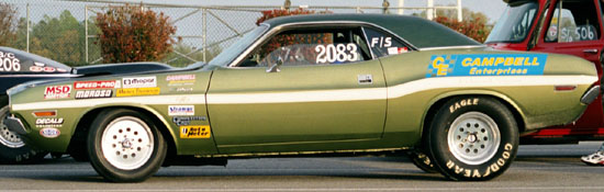 Campbell 1970 Dodge Challenger R/T SE Drag Race Car