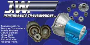 JW Performance Transmission Powerglide Transbrake Logo